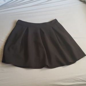 Patterned Black Mini Skirt